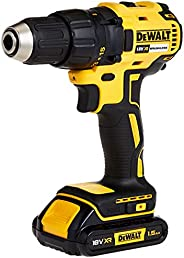 DEWALT 18V 13mm Compact Drill Driver,Brushless, 2 x 1.5Ah batteries, charger and kit box, Yellow/Black, DCD777