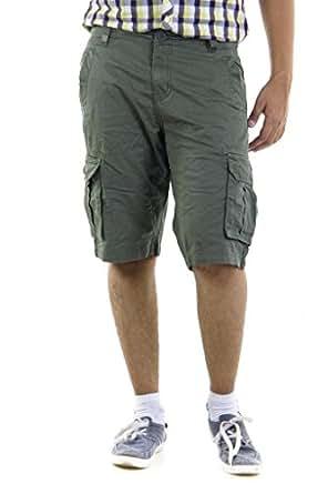 RIG Men's Cotton 3/4 Th Shorts (305000000702850_Light Olive_38)