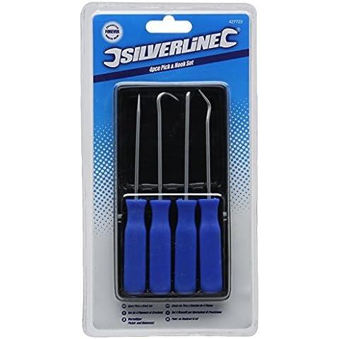 Silverline 427723 - Ganchos y puntas, 4 pzas (140 mm)