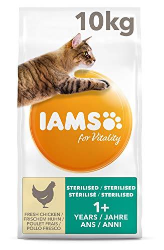 IAMS for Vitality Light in Fat Trockenfutter mit frischem Huhn, für sterilisierte/kastrierte Katzen, enthält viel hochwertiges tierisches Protein, 10kg