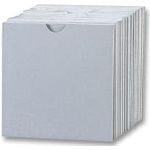 Four Square Media 50CD fundas de cartón/tipo cartera color blanco–50unidades