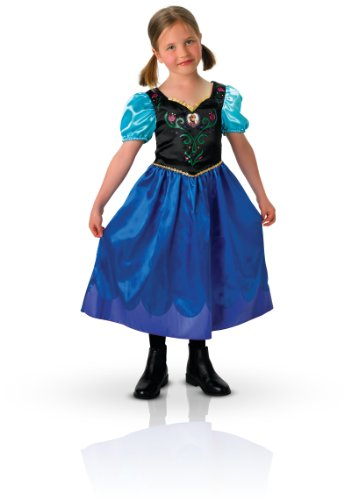 Anna Classic, Frozen Kostüm, Größe S, dunkelblau ()