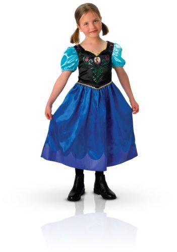 Rubie's 3 889543 S - Anna Classic, Frozen Kostüm, Größe S, dunkelblau
