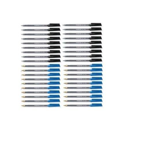 Staedtler 430 Stick Kugelschreiber, Schwarz/Blau, 100 Stück