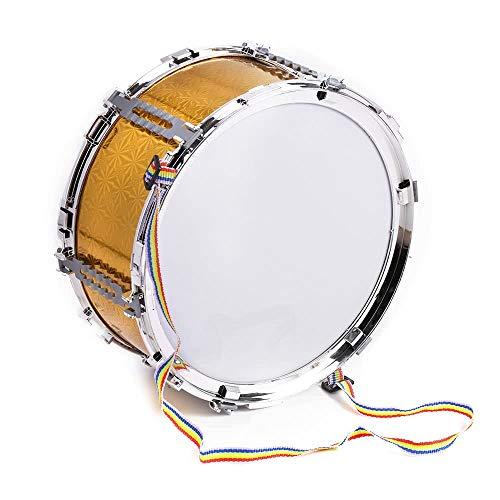 Youtaimei Zufriedenstellendes Produkt Bunte Jazz Snare Drum Musical Spielzeug Percussion Instrument mit Drum Sticks Strap für Kinder Kinder (Farbe: Golden)