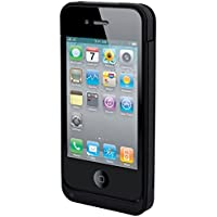 Muvit MUBATBCIP4G001 Coque rigide avec Batterie/Stand intégrés pour Apple iPhone 4