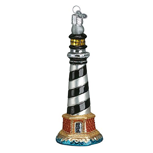 Old World Weihnachten Leuchtturm Collection Glas mundgeblasenes Ornament Cape Hatteras Lighthouse -
