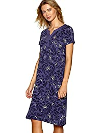 Debenhams Maine New England Purple Floral Print Jersey Short Sleeve Knee Length Dress