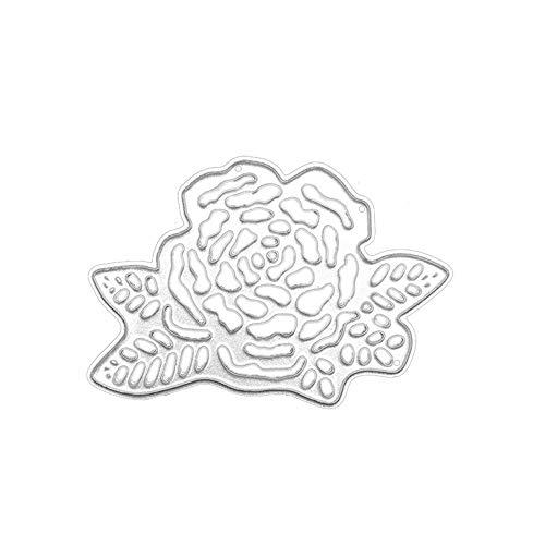 Qinpin Stanzschablone aus Metall für DIY Scrapbooking Album Papier Karte Dekoration Basteln, Karbonstahl, F, Einheitsgröße