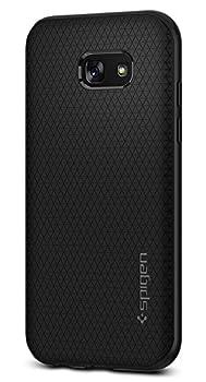 Coque Samsung Galaxy A5 2017, Spigen® [Liquid Air] ** Technologie Coussin d'air ** [Noir] Flexible Soft TPU / Nouveau design & Motif unique / Housse Etui Coque Pour Galaxy A5 2017, Samsung A5 2017- (573CS21143)