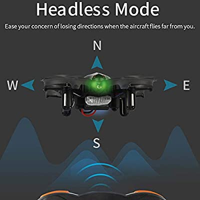 Ydq Drone Mini 2.4G 4CH Quadcopter, Headless Mode, 360 Degree Scrolling, One Button Return And LED Lights