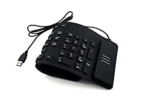 Flexible USB Roll-Up clavier QWERTY Air tactile silencieux silicone - Noir - Cherry's Store