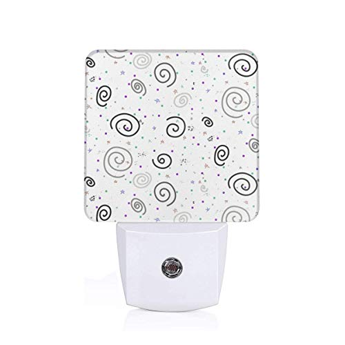 Led Night Light Bohemian Sky Stars And Galaxies Black U0026 White With A Pop Of Color! Auto Senor Dusk to Dawn Night Light Plug in for Baby, Kids, Children's Room