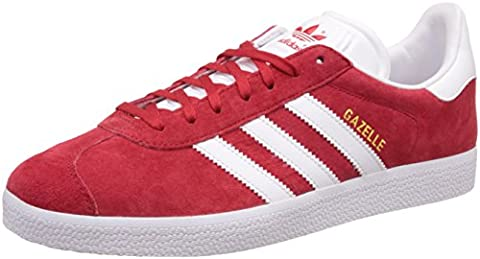 adidas Gazelle, Sneaker Bas du Cou Homme, Rouge (Scarlet/footwear White/gold Metall), 38 EU
