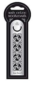 Irish Metal Bookmark With Celtic Knotwork, Ireland, Shamrock & Spiral Design