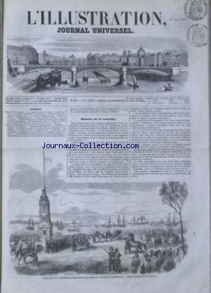 ILLUSTRATION (L') [No 587] du 27/05/1854 - COURRIER DE PARIS - LES GRAVURES - CHRONIQUE MUSICALE - LE PRINCE NAPOLEON A CONSTANTINOPLE - NOUVELLES DES ARTS - VOYAGE D'ATHENES A SPARTE - CAUSERIE LITTERAIRE - HISTOIRE NATURELLE DES REGNES ORGANIQUES PAR ISODORE GEOFROY SAINT-HILAIRE - EMBELLISSEMENT DE PARIS -