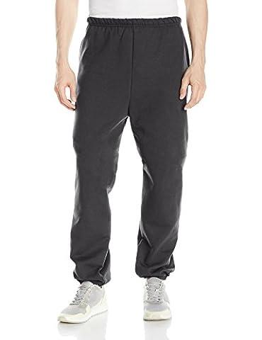 Hanes Men's Ultimate Cotton Fleece Pant,Black,Medium