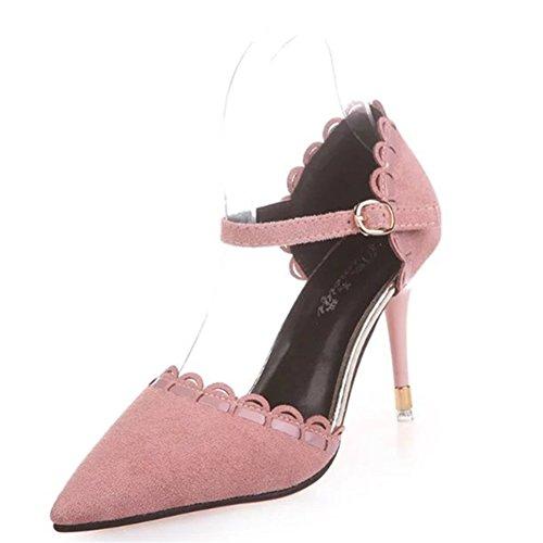 Le printemps de Korean fashion chaussures pointues à talons hauts/Sandales talons/chaussures de boucle de baotou Joker B