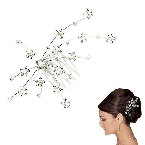 DDLBiz® Silver Personality Gem Crystal Wedding Bridal Princess Jewelry Crown Hair Jewelry Accessories Clip Hair Pins