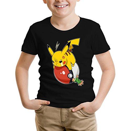 Pikachu and Ash from Pokemon Parody - The Revenge of Pikachu Boys Kids T-shirt - Funny video games Boys Kids T-shirt