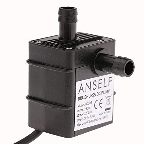 Anself Ultra-silenzioso Mini USB DC5V 2.3 w Brushless Micro Acqua Olio Pompa Impermeabile Sommergibile Fontana Acquario