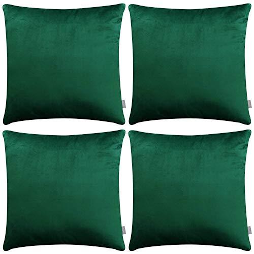 -Kissenbezug, quadratisch, weiche Samt-Kissen für Sofa Couch (45,7x 45,7cm 45x 45cm, nur für Schlafzimmer, mit) grün ()
