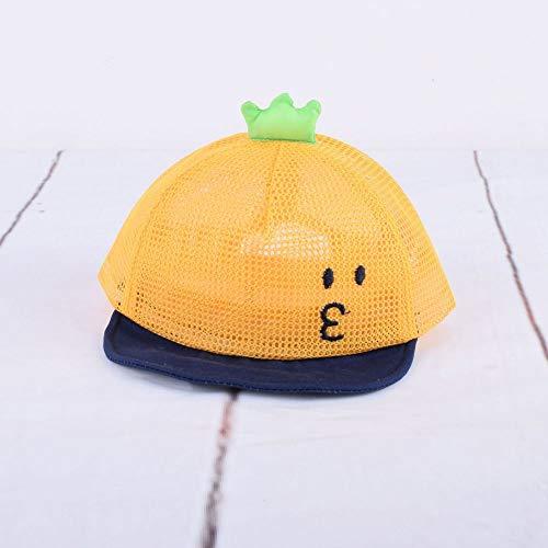 zhuzhuwen 2019 Beanie Cockatoo Cartoon Full Net Cap süß weich entlang der Kappe Baby Sonnenschutz Visier Hut 348-50cm