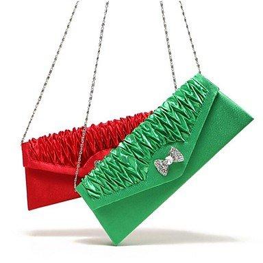 SUNNY KEY-Pochette e Clutch @ Formale / Casual / Serata/evento / Matrimonio / Ufficio e lavoro / Uso professionale-Borsa a tracolla / Tote / Borsa da sera-Donna-Seta- , fuchsia green