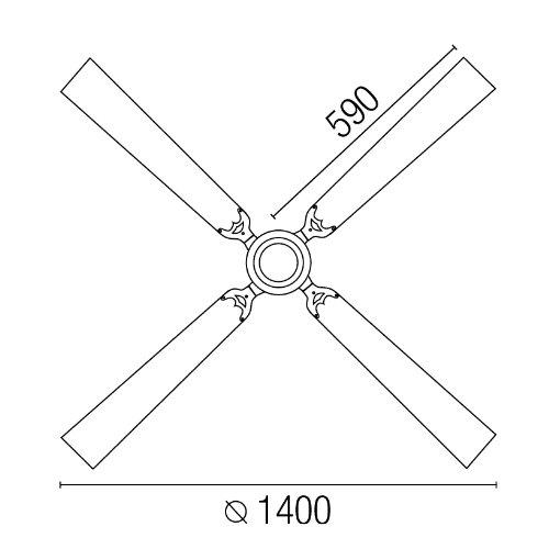 Faro 33110 - MALVINAS Ventilatore da soffitto grigio scuro