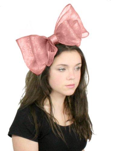 Petit 20,3cm cliverina Ascot Bibi Chapeau–avec nœud Bandeau/aliceband ou... Vieux Rose