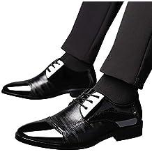 Zapatos de Vestir Hombre Zapatos de Oxford Hombre,EUZeo, Mocasines con Cordones Cuero Formales