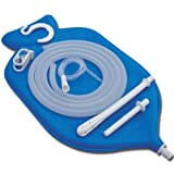 The Perfect Enema Bag Kit in Blue Color for Colon Cleansing With Silicone Hose (2 quart, open top) by HealthGoodsEU