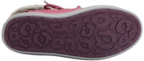 Crocs - LodgePoint Lace Boot, Stivali a metà polpaccio non imbottiti Donna Viola (Pomegranate)