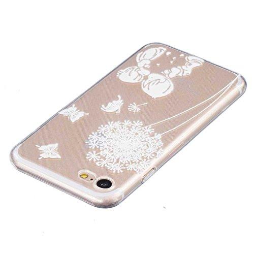 Boxtii® Cover per iPhone 7[con salvaschermo in vetro temperato in omaggio], in TPU ultra sottile, antigraffio, assorbimento degli urti, guscio di protezione per Apple iPhone 7, motivo: bocca di leone #6 Dandelion