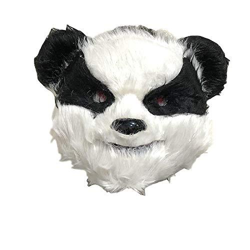 Wilde Kostüm Mädchen Hexe - TZJ Blutige Kaninchen Maske Maske Maske Horror Gruselkopf Set Halloween Bar Show Requisiten Cute Panda