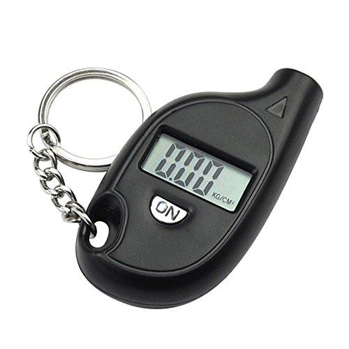 Keyi le Sicurezza e Durata Manometro elettronico per Pneumatici Auto con Portachiavi elettronico