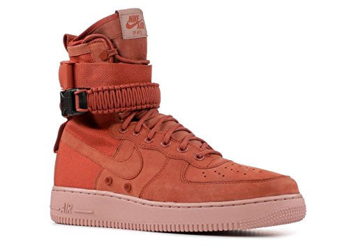 Nike Unisex Shoes WMNS SF Air Force 1 Leather and Brown Fabric 857872-202