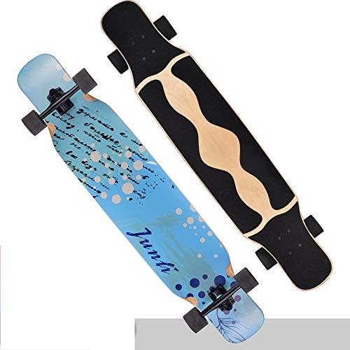 OaLt-t Board Skateboard Pinsel Street Longboard Skateboard Long Dance Board Vier Runden Double Skating Skateboard Anfänger (Color : H) (Metall-skate-rampe)
