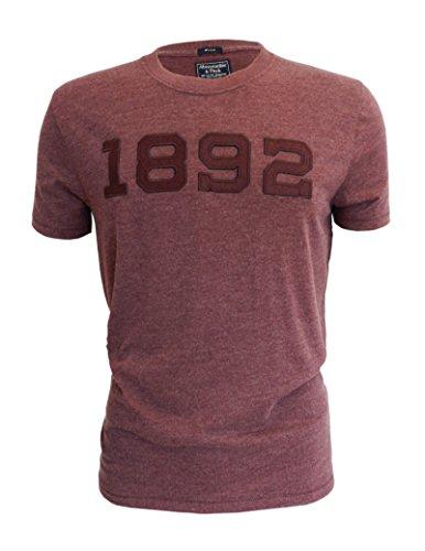 abercrombie-fitch-t-shirt-da-uomo-con-logo-in-colore-bordeaux-nuova-etichetta-burgundy-x-small