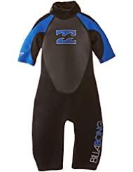 Billabong JUNIOR Intruder 2mm Back Zip Shorty in Black/BLUE S42B08 Sizes- - 10 Years