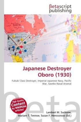 Japanese Destroyer Oboro (1930)