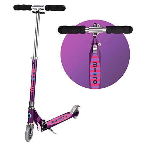 Micro Scooters Stripe Sprite Purple Boys Girls 2 Wheeled Aluminium 5 To 12 Years Best Price and Cheapest