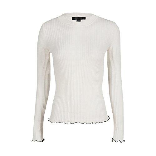 Dissa Q0233 Pull Tricot Femme,S-XL Blanc