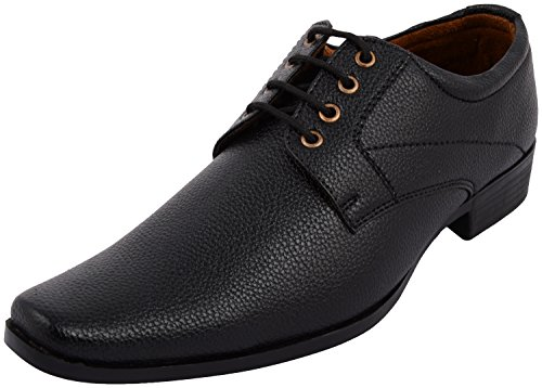 ALESTINO Men's Black Formal Shoes For Men Leather Formal Shoes F02 (44 UK)Black