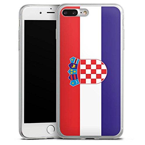 Apple iPhone 8 Plus Slim Case Silikon Hülle Schutzhülle Kroatien Flagge Fußball Silikon Slim Case transparent