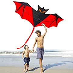 Idea Regalo -  Aquiloni per bambini Adulti, Aquiloni Aquilone Grande Batman per The Beach Park Outdoor Easy Fly 3D Animal Bat Dragon Arcobaleno Colorato Aquilone Facile da assemblare Migliore qualità 100% Soddisfazione Ottimo per la famiglia Fun