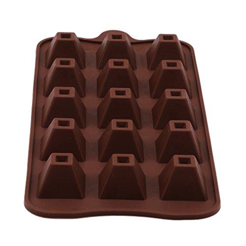 LnLyin 15Hohlraum, Pyramide Form Mondkuchen Fondant Schokolade Formen Candy Formen Backform Seife Dekorieren Formen