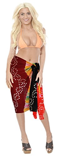 Resort Bikini Wrap Badeanzug Kleid Vertuschungen Pareo Sarong Strand tragen Damen der Frauen Orange