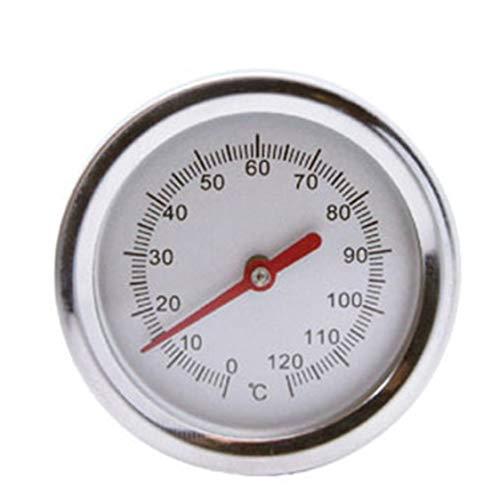 20 pouces 50cm Longueur 0-1-20 ° C Compost Thermomètre de sol Prime de qualité alimentaire en acier inoxydable Détecteur de sonde à mesurer en métal Vie morte