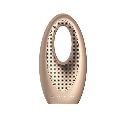WWANGYU Drahtloser Bluetooth-Lautsprecher, Segel Hotel-Außenbereich, TF, AUX, Freisprecheinrichtung, LED-Beleuchtung, Tragbarer Lautsprecher,Brass